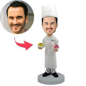 Male Chef Custom Bobblehead