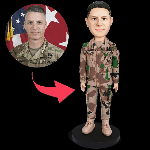 Male Soldier Custom Bobblehead