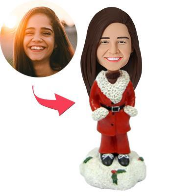 Christmas gifts Casual Woman Custom Bobblehead With Engraved Text