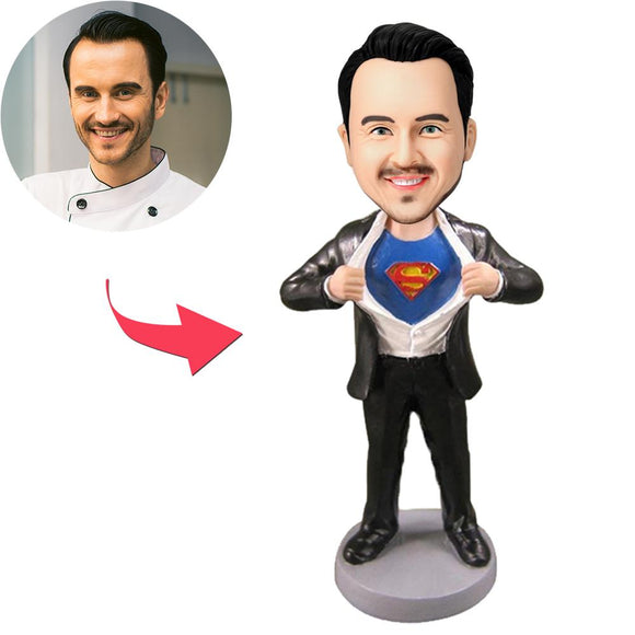 Superman Strip - Special Gift Custom Bobblehead With Engraved Text