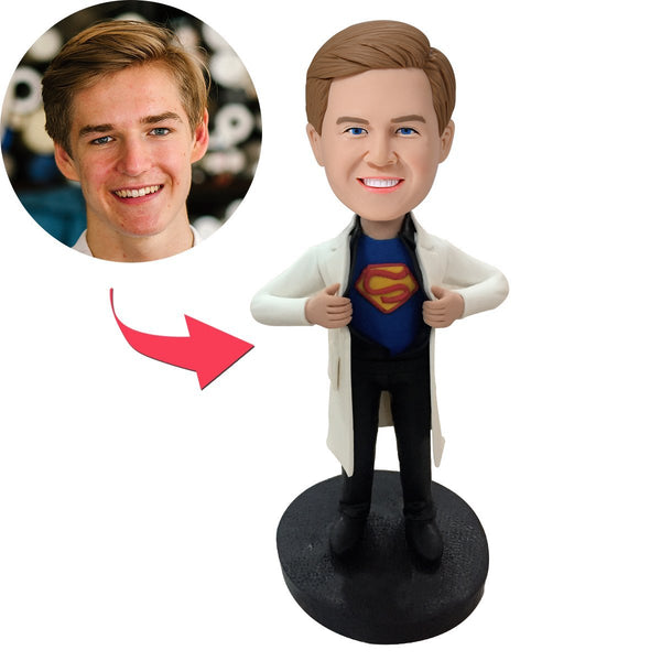 superman doctor Popular Custom Bobblehead With Engraved Text
