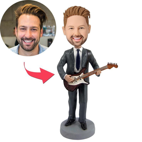 Guitar Custom Bobblehead With Engraved Text