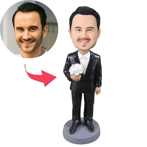 Wedding Groomsmen Custom Bobblehead With Engraved Text