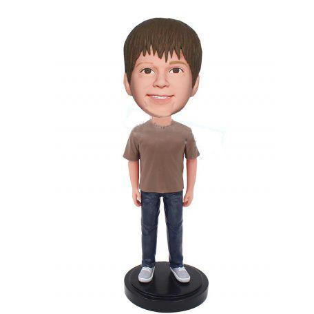 Teenager Custom Bobblehead With Engraved Text