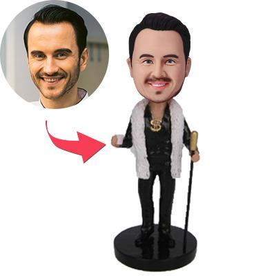 Millionaire Custom Bobblehead With Engraved Text