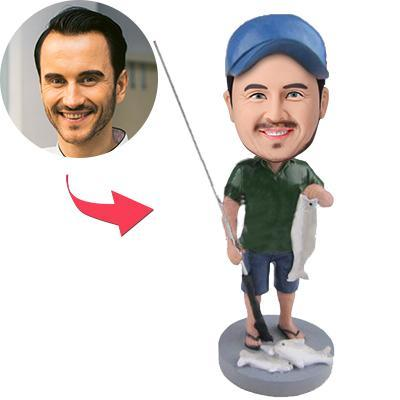 Ace Fishing Wild Catch Custom Bobblehead With Engraved Text