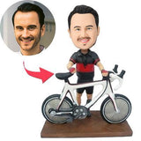 Biker With A Bike Custom Bobblehead