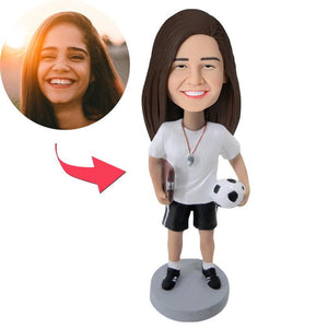 Female Coach Custom Bobblehead