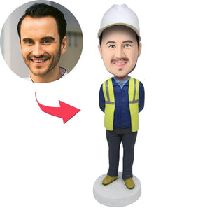 Construction Worker Custom Bobblehead