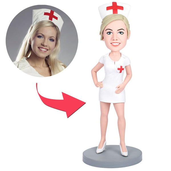 Sexy Nurse Custom Bobblehead With Engraved Text