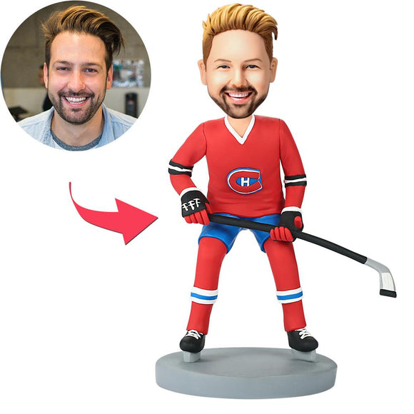 Montreal Canadians Hockey  Custom Bobblehead With Engraved Text