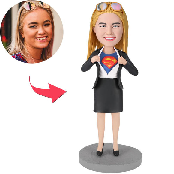 Christmas-gifts - Office Superwoman Custom Bobblehead