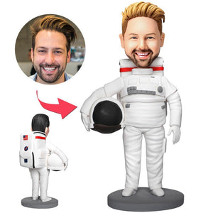 Astronaut Custom Bobblehead With Engraved Text
