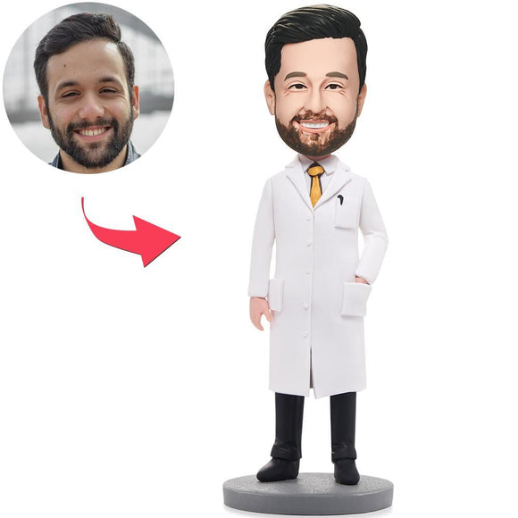 Wise Man In Lab Coat Custom Bobblehead