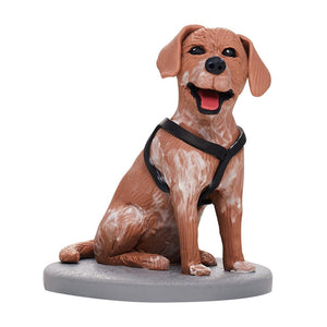Custom Fully Customizable 1 Animal/Pet Bobbleheads With Engraved Text