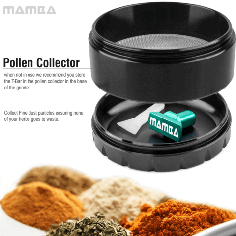 Mamba weed grinder with pollen