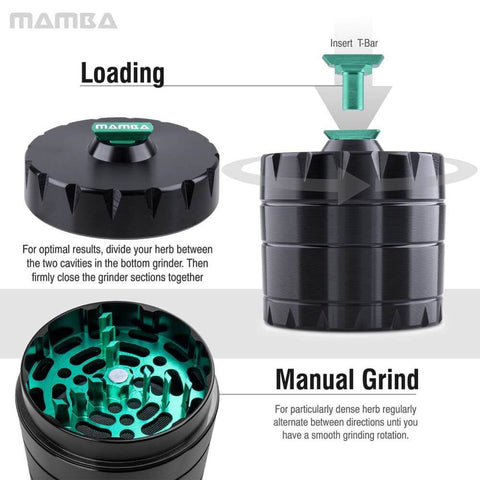 Masher drill weed grinder