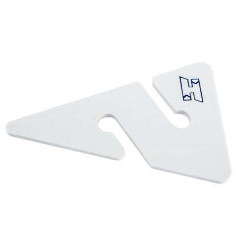 Line Arrows white with blue H logo