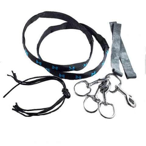 Side Mount rigging kit includes 2 cylinder bands with nylon cover and two 1 inch bolt snaps