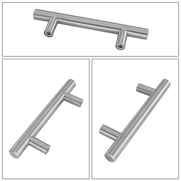 Homdiy Brushed Nickel Cabinet Pulls T Bar Drawer Pulls Knobs Stainless Steel Cabinet Handles