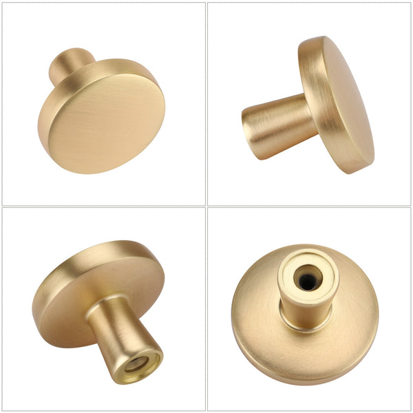 Homdiy Brushed Brass Cabinet Knobs for Dresser Drawers Gold Drawer Pulls Brass Hardware for Cabinets