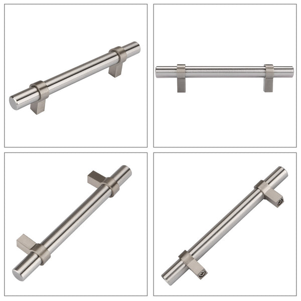 Homdiy Kitchen Cabinet Pulls Knobs Modern Cabinet Handles Brushed Nickel Drawer Pulls T Bar Cabinet Hardware