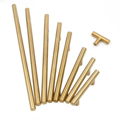Homdiy 5 Pack Kitchen Cabinet Pulls Brushed Brass Dresser Drawer Pulls