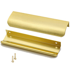 Homdiy Brushed Brass Cabinet Pulls Gold Drawer Pulls 5in Kitchen Cabinet Handles 6in Overall Length