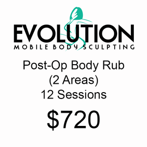 Post-Op Body Rub (2 Areas) - 12 Sessions