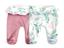 Load image into Gallery viewer, BLUSH RUFFLED FOOTIE PANTS