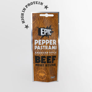 Pepper Pastrami Beef Sticks