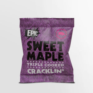 Epic premium quality sweet maple triple cooked pork crackling snack