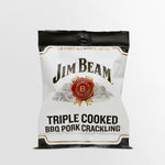 Epic premium quality Jim Beam triple cooked bbq pork crackling snack