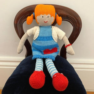 Doll With Orange hair and blue dress by Parkville Auxiliary
