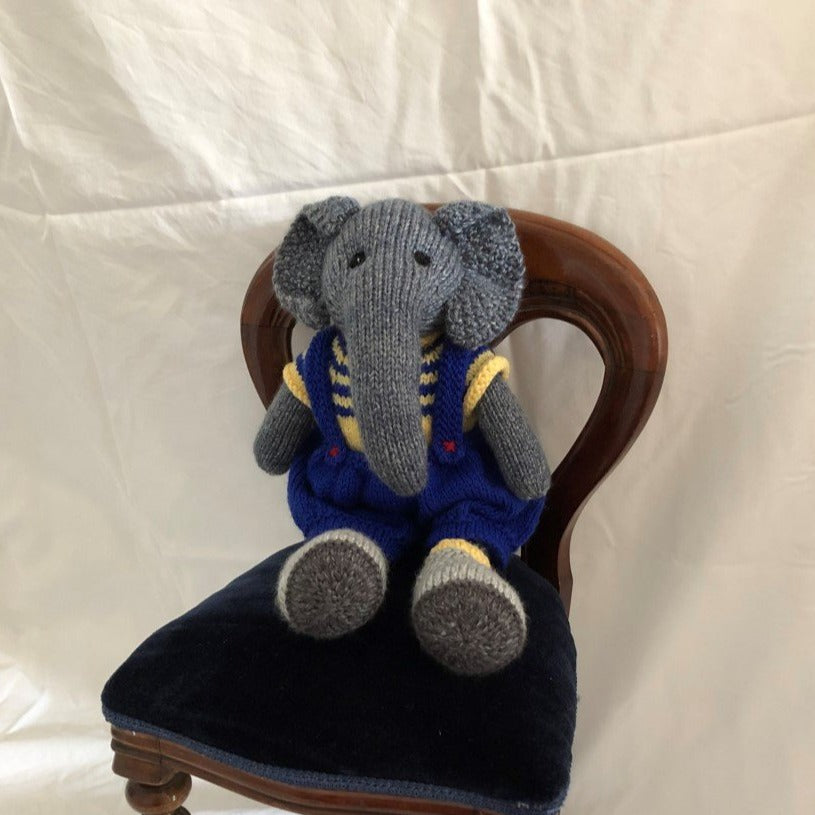 Elephant with blue trousers by Parkville Auxiliary
