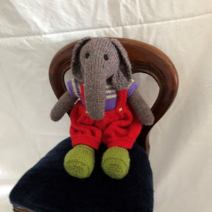 Elephant with red trousers by Parkville Auxiliary