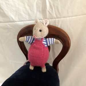 Mouse with pink dungarees by Parkville Auxiliary