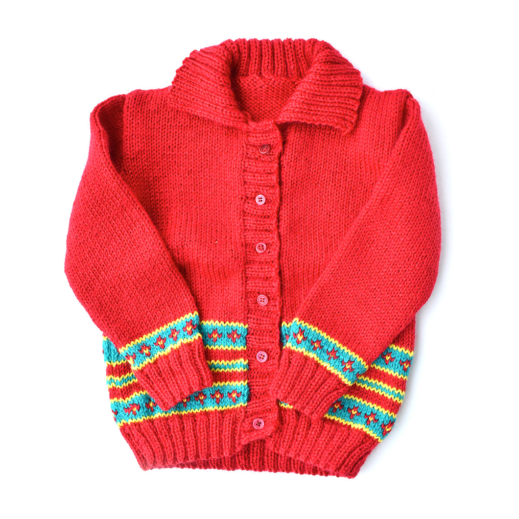 Red Cardigan by Geelong Auxiliary