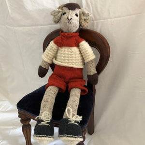 Sheep with brown shorts by Parkville Auxiliary
