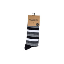 Load image into Gallery viewer, Mono Stripe Socks by Inverloch Diabetic Unit Auxiliary