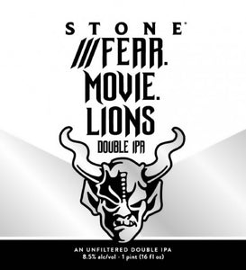 ///Fear.Movie.Lions Double IPA 0,473L - Maastricht.beer