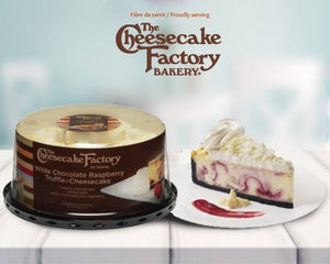 "6"" The Cheesecake Factory White Chocolate Raspberry Truffle Cheesecake"