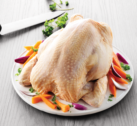 Organic wholechicken 1700-2400g raw