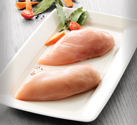 Organic chicken fillet, raw