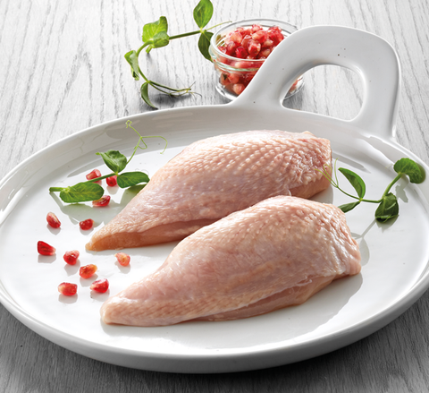 Chicken breast w/skin 180-220g