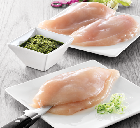 Chicken breast fillet with added water, 140-180g
