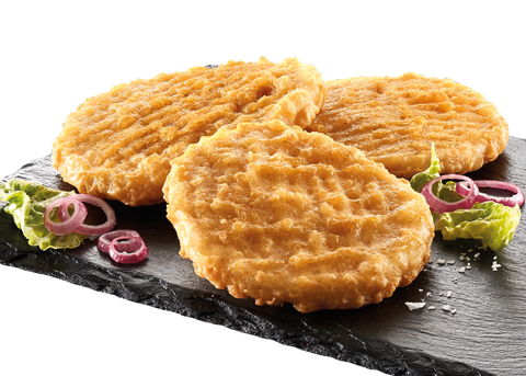 Battered chicken burger, 100g