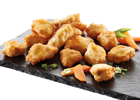 Battered chicken chunks 18g