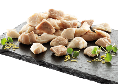 Steamed chicken fillet dices 15mm