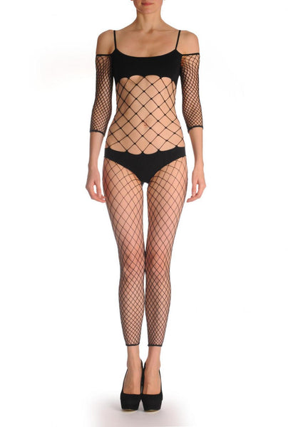 Large Mesh With Long Sleeves & Opaque Panels
